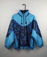 VINTAGE BRILLANTE UOMO Retro Blu in grassetto Inverno Cappotto Giacca Da Sci Giacca a Vento UK L