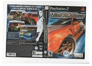 Need For Speed underground PS2 ARTWORK ONLY Authentic Black Label
