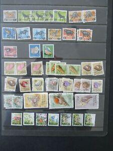 Kenya stamp collection Animals & Sea Shells & Flowers FU/VFU