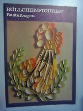 Röllchenfiguren - Bastelbogen 1983 DDR für Kinder ab 8 Jahren