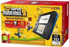 Nintendo Handheld Console 2DS - Black/Blue with New Super Mario Bros 2