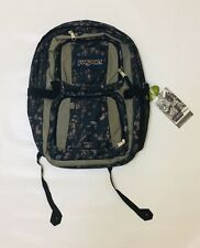 """BNWT JanSport Laptop School Backpack Gray and Blue Fits 17"""" Laptop Sleeve"""