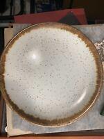 "HTF Vintage McCoy Brown Drip Glaze - Set of 8 Dinner Plates USA; 10 1/2"""
