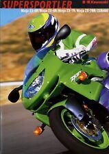 Kawasaki Prospekt 10/98 1998 brochure Ninja ZX 7RR ZX 7R 6R 9R ZXR 400 Motorrad