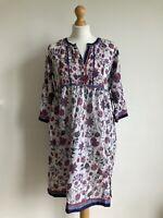 BIBA Size UK 8-10 EU 34 VTG 80's Floral Tunic Dress 100% Cotton