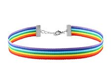 RAINBOW CHOKER Necklace Gay Pride Festival LGBT Parade Party Lesbian Halloween