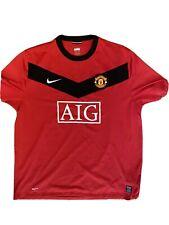 2009/2010 Nike Manchester United Home Shirt Size XXL AIG Football Shirt