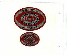 New listing Nice Rare Set Of 2 Integrity Joy Coal Mining Stickers # 1447
