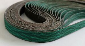 """1/2"""" x 18"""" Premium Zirconia Sanding Belts, 36 Grit, 10 Pack"""