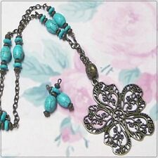 Turquoise Alloy Handcrafted Necklaces & Pendants