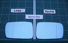 Außenspiegel Spiegelglas Ersatzglas BMW 3 E46 Coupe Cabrio Li oder Re asph Blau