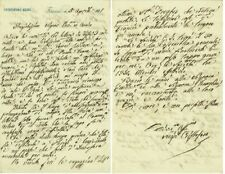 W86-LETTERA(INCREDIBILMENTE PROFETICA) AUTOGRAFA, NEGRI CRISTOFORO,GEOGRAFO,1871
