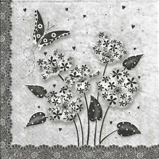 Lot de 2 Serviettes en papier Fleurs Chic Decoupage Collage Decopatch