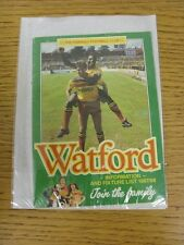 1987/1988 Watford: Information and Fixture List/Booklet, Pocket Size, 36 Pages.