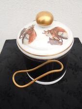Pot tabac porcelaine Vincennes décor chevaux porte-pipes laiton Paris
