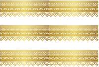 Gold Trim Pre Cut A4 Edible Icing Cake Side Strips / Ribbon 3 strips