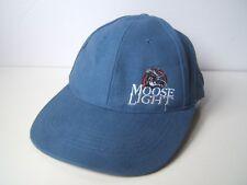 Moose Light Moosehead Beer Hat Blue Hook Loop Baseball Cap