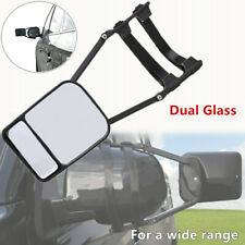 1PC*Adjustable Dual Glass SUV Truck Trailer Mirror Clip-on Towing Mirror Widened