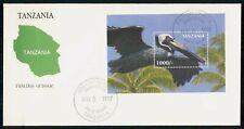 Mayfairstamps Tanzania 1997 Bird Souvenir Sheet First Day cover wwf54505
