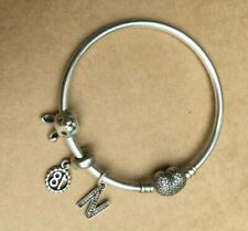 PANDORA ALWAYS IN MY HEART BRACELET WITH REMARKABLE RABBIT LETTER N & 18TH CHARM
