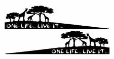 2 x One Life Live It, autocollant, Afrique, Camel Trophy, 4x4 Off Road Jeep, Land Rover