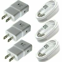 3 Pack Home Wall Adapter Fast Charger USB 3.1 Type C Charging Cable For Samsung