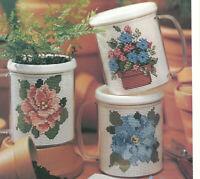 Bouquet Mugs Flowers Cross Stitch Patterns from a magazine Mats Coasters