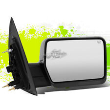FOR 04-14 FORD F150 RIGHT POWER+HEATED FOLDABLE TOWING TOW SIDE MIRROR BLACK