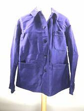 Ancienne Veste de bleu de travail moleskine, usine paysan déguisement