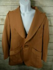 Arcade Mens Shop Vintage Blazer Suit Jacket 40 Brown Lined 1970s