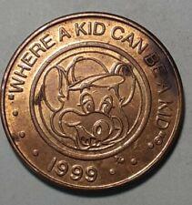 **RARE 1999 Chuck E Cheese Nickel Token ~  Where A Kid Can Be A Kid