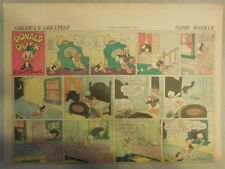 Donald Duck Sunday Page by Walt Disney from 11/8/1942 Half Page Size