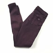 RAG & BONE Skinny Plum Purple Stretch Pants Jeans Women's Size 25