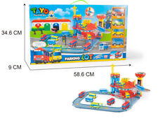 1 SET TAYO The Little Bus Double Decker Parking Lot With 4 CAR Toys Gift For Kid