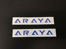 Old School Bmx Araya Rim Wheel Decal Sticker Blue Era Correct