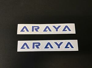 Old School Bmx Araya Rim Wheel Decal Sticker Blue Era Correct