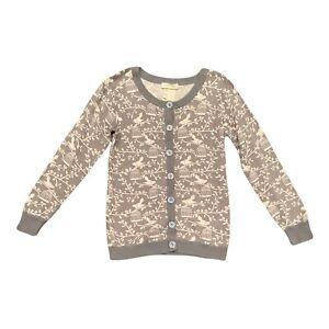 Matilda Jane Secret Fields Winter Wonderland Cardigan Girls Sz 8 Gray Sweater