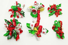 300 Wholesale Christmas Dog Hair Bow W/Rubber Band Xmas Party Grooming Accessory