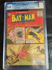 BATMAN #98 CGC VG/FN 5.0; OW-W; Jules Verne and Vicki Vale app!