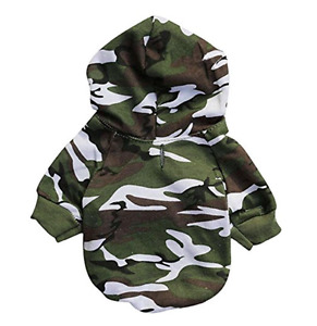 Camo Toy Dog Hoodie Hooded Pet Clothes Small Shirt Sweater XS - L FOR SMALL DOGS