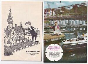 MADURODAM, DEN HAAG, SCHEVENINGEN, HOLLAND um 1960: Beb. Führer, Stadtplan deut.
