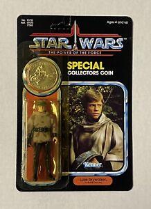 Vintage Star Wars Luke Battle Poncho MOC 1985 POTF Original Kenner Sealed