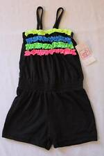 NEW Baby Girls Romper 24 Months Black Ruffles Sleeveless Shorts Outfit Jumpsuit