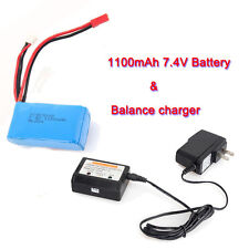 7.4V 1100mAh Battery+Charging Set For WLtoys RC A949 A959 A969 A979 V912 V913 F1