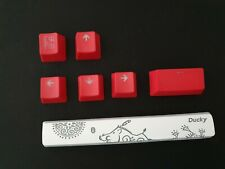'Year of the Pig' Spacebar and Extra Red Keycaps for Ducky One 2 Mini