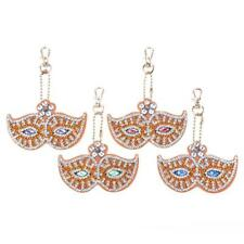 4pcs Full Drill Special Shaped Diamond Painting DIY Keyring Chain Pendant #8Y