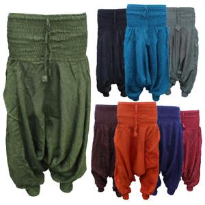 HaremTrousers Alibaba Hippie Baggy Womens pants Cotton yoga boho stretchy waist
