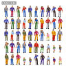 P50WCN  50pcs Model Trains 1:50 Painted Figures O SCALE People New