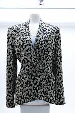 Richard Tyler  Couture Jacket Multi-Color  Black and White Paisley  Sz10 $1780