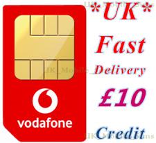 £10 New UK Vodafone Nano/Micro/Standard 3 in 1 UK Mobile Sim Card £10 Credit Sim